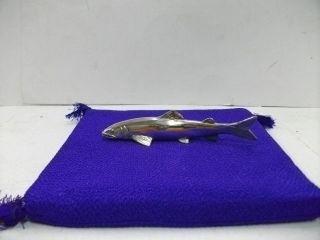 Silver Sweetfish.  135g/ 4.  75oz.  Japanese Antique. photo