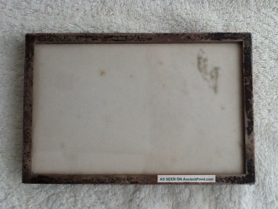 Vintage Birmingham Hallmarked Solid Silver Photo Frame With Oak Back And Stand Frames photo