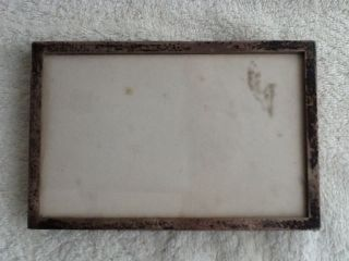 Vintage Birmingham Hallmarked Solid Silver Photo Frame With Oak Back And Stand photo