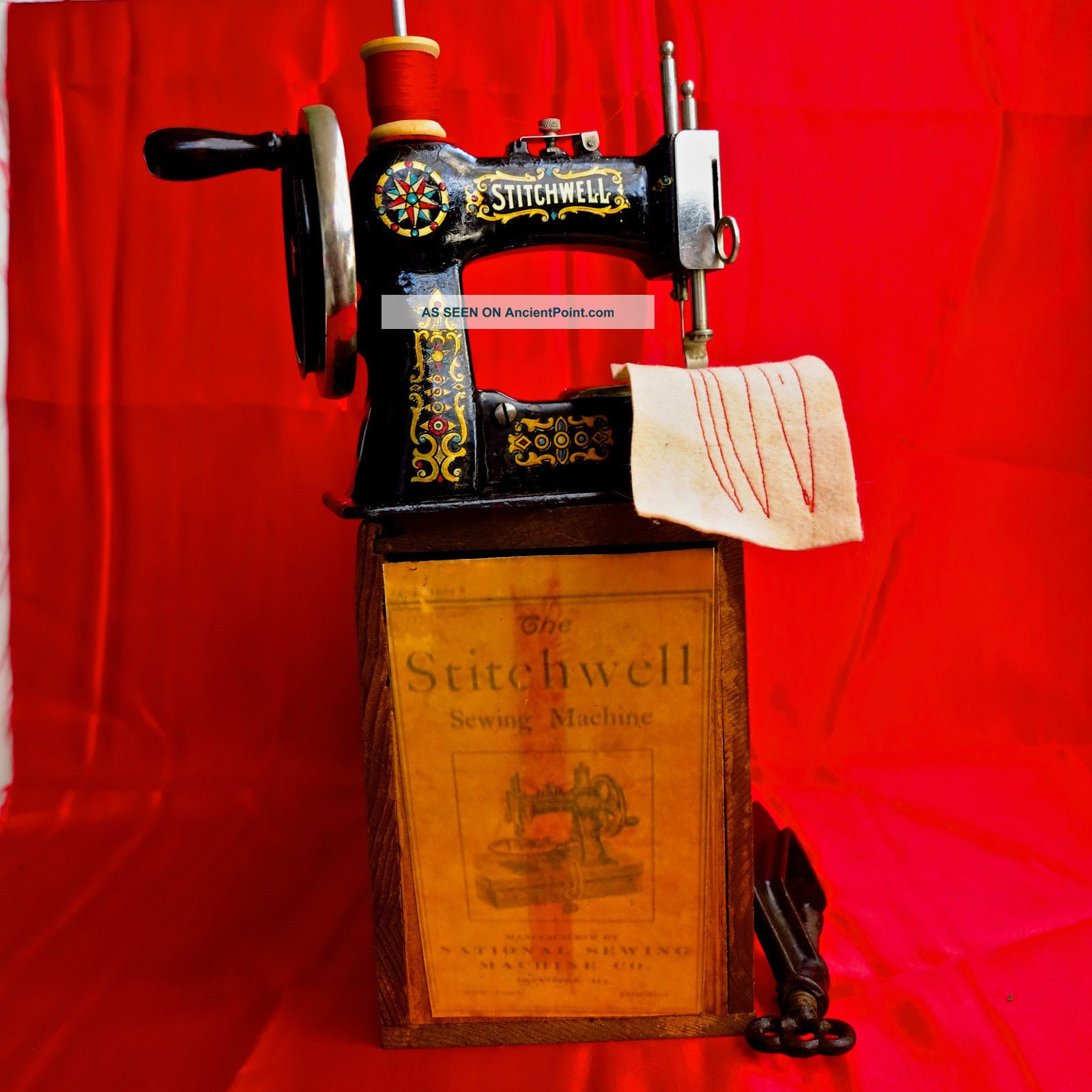 Antique Toy Sewing Machine Stitchwell It Sews Flawless, Sewing Machines photo