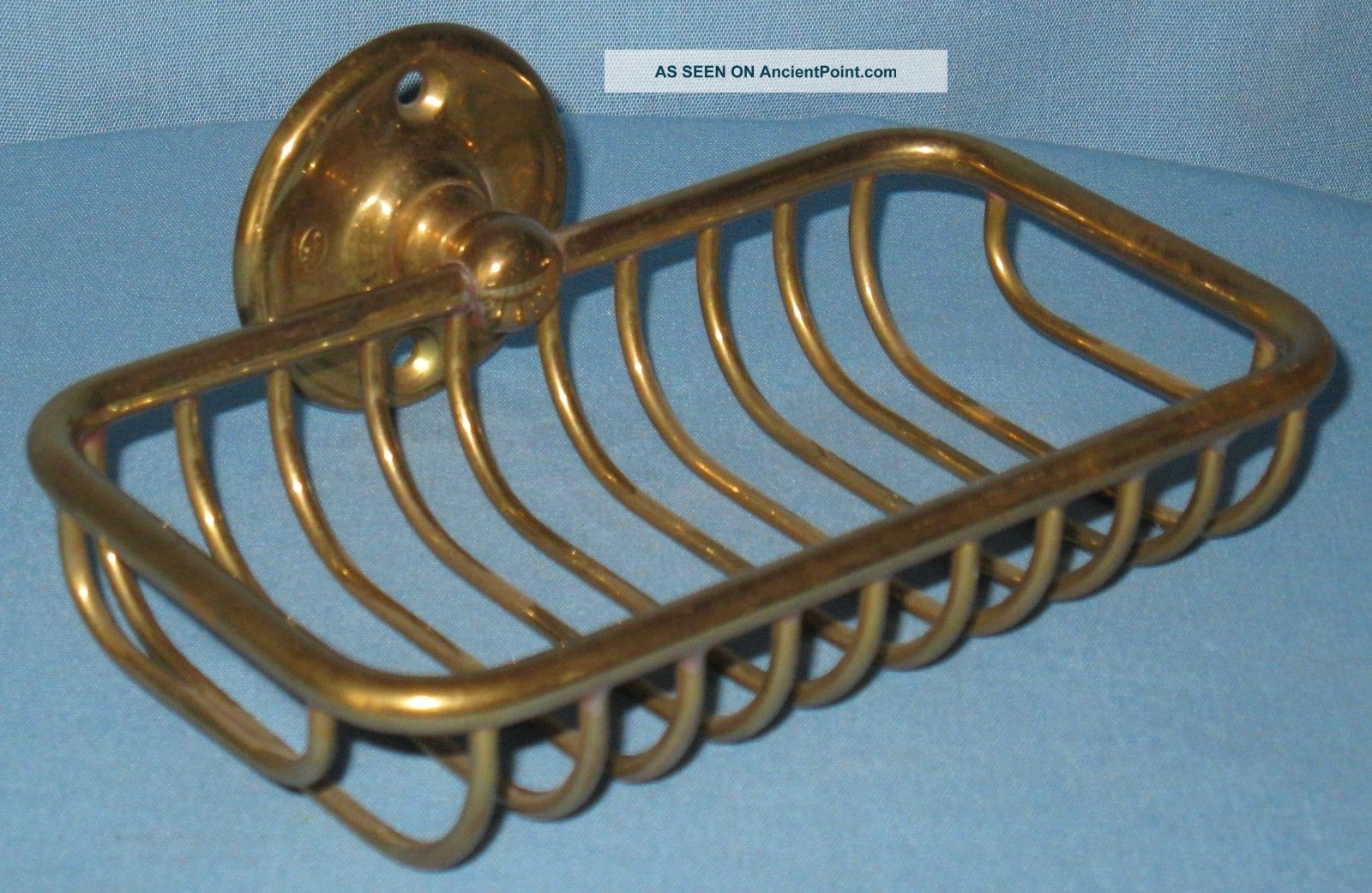 Antique/vintage Over The Side Brass Soap Dish Holder For Claw Foot Tub