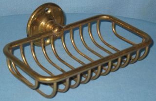 Antique/vintage Over The Side Brass Soap Dish Holder For Claw Foot Tub photo
