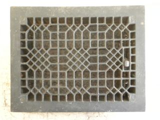 Antique Cast Iron Victorian Floor Heat Register Grate W/ Louvers 11