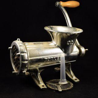 Vintage Dorkert Meat Grinder 32 Hand Crank - Czech Republic - Finish photo