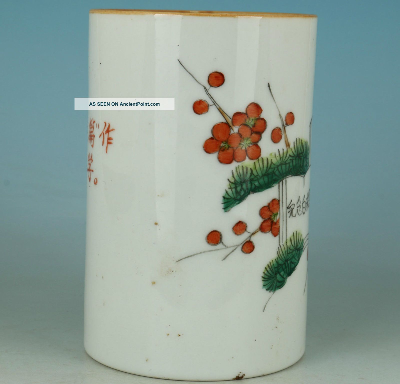 China Old Jingdezhen Porcelain Hand Painting Cultural Revolution
