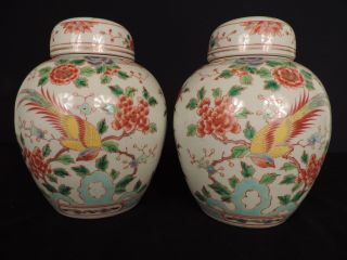 A Lidded Polychrome Ginger Jars photo