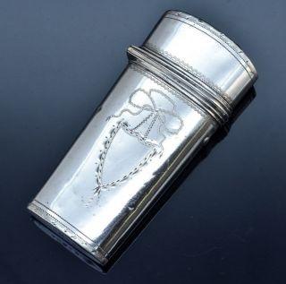 Rare C1797 Georgian Sterling Silver Gentleman ' S Travel Etui Case W Implements photo