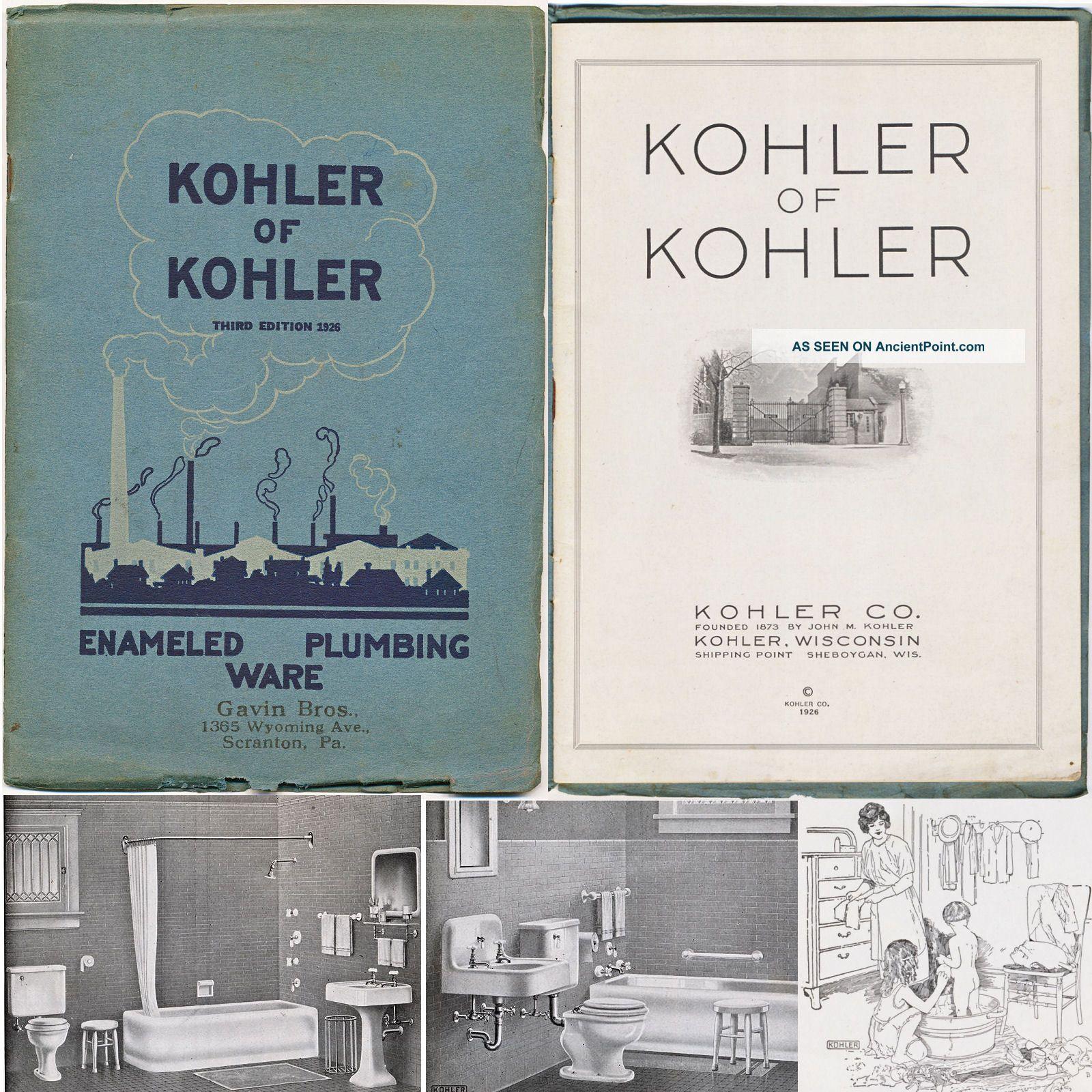 Kohler Of Kohler Enameled Plumbing Ware Brochure 1926 Sinks Tubs Toilets Sinks photo