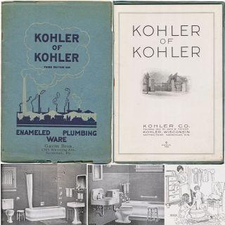 Kohler Of Kohler Enameled Plumbing Ware Brochure 1926 Sinks Tubs Toilets photo