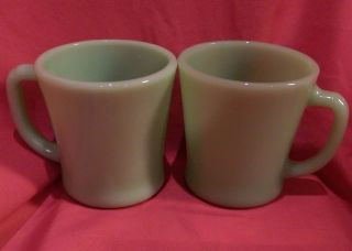 Vintage Jadite Fire King D Handle Coffee Cup photo