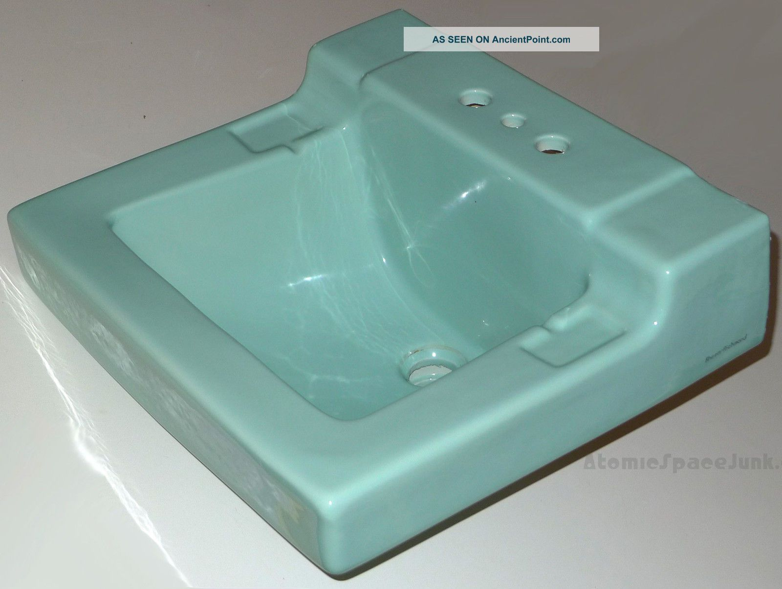 Mid - Century Bathroom Sink Turquoise Blue Rheem - Richmond Vintage Lavatory 1950 ' S Sinks photo