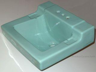 Mid - Century Bathroom Sink Turquoise Blue Rheem - Richmond Vintage Lavatory 1950 ' S photo