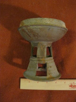 Vintage Antique Silla Dynasty Korean Unglazed Stoneware Stem Cup 1 Appraisal photo