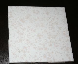 1 4x4 Vintage 1950s Retro Ceramic Wall Tile Reclaimed White W Pink Splatter photo