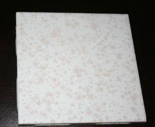 1 4x4 Vintage 1950s Retro Ceramic Wall Tile Reclaimed White W Pink Splatter photo