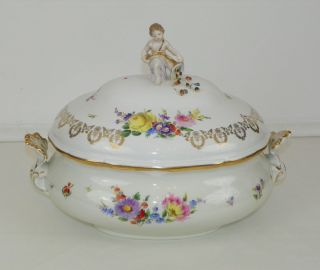 Large Meissen Porcelain Soup Tureen.  Circa First Half 20th Century. photo