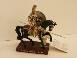 Alexander The Great On Horse 4.  73  Figurine Statue Historic Collectible Decor photo
