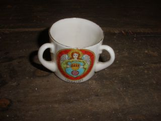 Antique Vintage Miniature Loving Cup Henry Of Navarre King Of France Heraldic photo