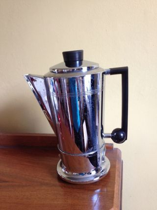 Art Deco Chrome Electric Coffee Pot,  Percolator,  No Cable photo