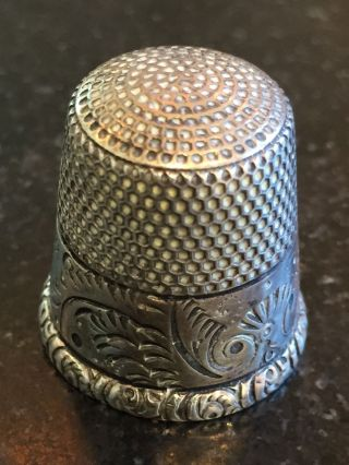 Gorgeous Ketcham And Mcdougall Sterling Thimble Size 12 photo