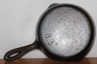 1940 ' S Chicago Hardware Foundry No.  3 Hammered Cast Iron Skillet 8 - 3 F photo