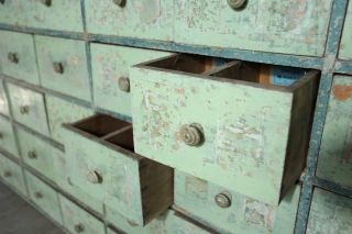 Run Of Early 20th Century French Shop Drawers photo