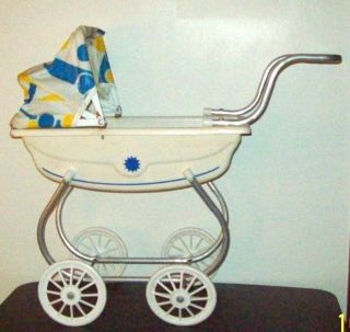 Vintage Child ' S Baby Doll Buggy Stroller Convertible Mid Century Baby Carriage photo
