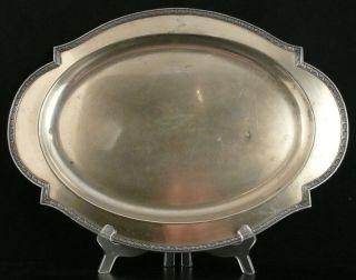 Lrg Vintage Sheffield Silver Company Oval Turkey Platter Meat Serving Tray Epns photo