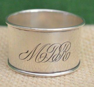 Antique Signed Sterling Hallmark Engraved Child ' S Napkin Ring Mdr 1 - 5/8 Diameter photo