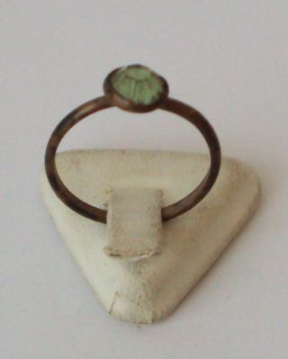 Vintage Bronze Ring With Green Stone From The Early 20th Century 106 photo