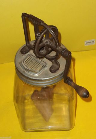 Antique Hand Powered Dazey Butter Churn 1940s Great Style See photo