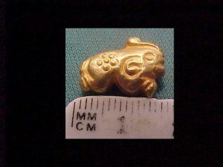 Sassanian Gold Amulet (elephant) Circa 400 - 700 Ad. photo