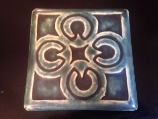 Pewabic Tile Geometric Glazed 6