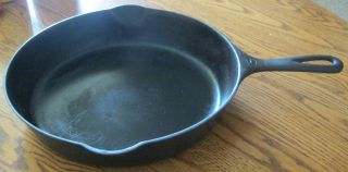 Griswold Cast Iron 8 Skillet=704 K Erie,  Pa.  =very Old With Obscured Slant Logo photo