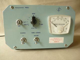 Vintage Ratemeter,  Pulse Counter {physics Radiation} By Research Electronics photo