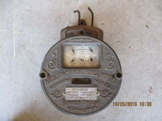 Westinghouse Electric Meter Round Type Single Phase Wattmeter 1898 Rare photo