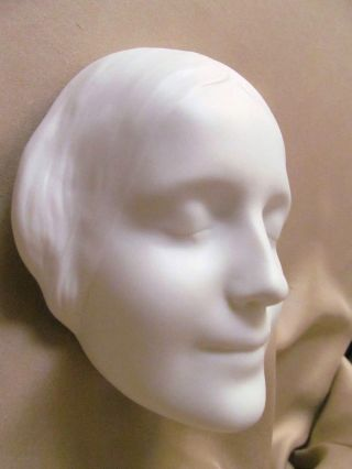 Stunning 1935 Goebel Bisque Porcelain Death Mask Arthur Moller Design photo