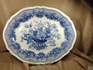 Mason ' S,  England Patent Ironstone Platter - Blue & White -
