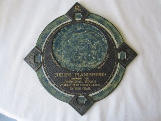 Antique Ca 1900 Philips Planisphere Principal Stars Positions Leather photo