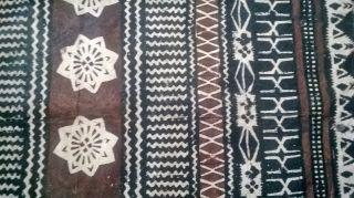Vintage Fijian Tapa Cloth Satchel