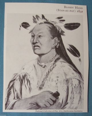 Bloody Hand (stan - Au - Pat) 1832.  George Catlin,  Smithsonian Institution photo