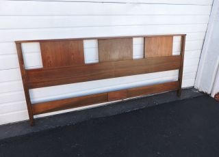 Mid - Century Danish Modern King Size Headboard 6896 photo