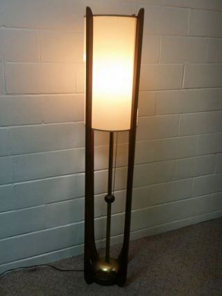 Vintage Mid Century Danish Modern Modeline Table Floor Lamp Teak Era Brass photo
