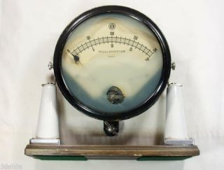 Museum Quality 1800s Early 1900s Amp/ Electrical Meter One Of First Milliammeter photo