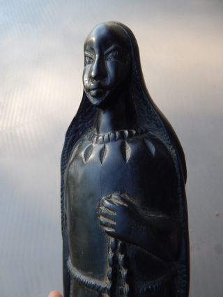 Old Large Hand Carved Statue,  African Art,  Primitif,  Religious,  Ebony Wood photo