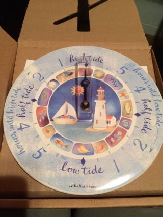 Santa Barbara Ceramic Nautical Tide Clock