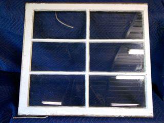 Vintage 6 Pane Window Sash Old Wood Picture Frame Sashes Farmhouse Chic Shabby photo