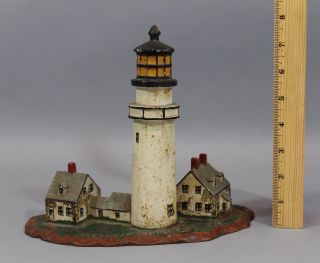 Antique Early 20thc Highland Light Cape Cod Cast Iron Lighthouse Doorstop photo