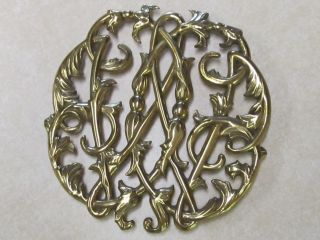 Virginia Metalcrafters Brass Trivet Cw10 - 14 Colonial Williamsburg Cypher 1950 photo