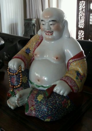 A Chinese Porcelain Buddah photo